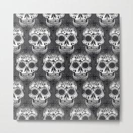 New skull allover pattern 1 Metal Print