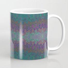 Green and Purple Abstract Watercolor Coffee Mug