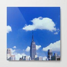 New York City // Retro 40 Metal Print