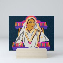 Vintage Colorful Bride  Mini Art Print
