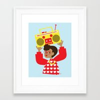 transistor Framed Art Prints featuring Trini Transistor  by The Pairabirds