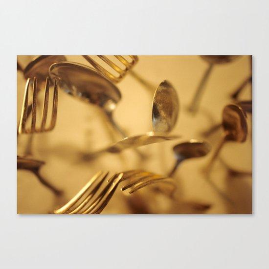 Cutlery Vortex Canvas Print