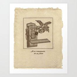 La no comunicación da sus frutos Art Print