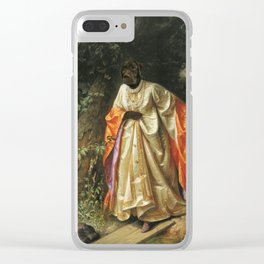 Dark Chocolate Labrador - hide and seek - old masterpiece collage Clear iPhone Case