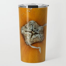 Perfectly Imperfect Pumpkin on Wood Travel Mug