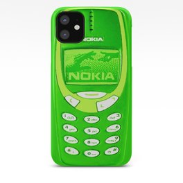 OLD NOKIA - Fluo Green iPhone Case