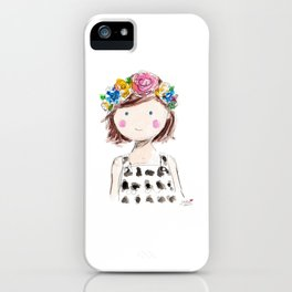 Flowers in her hair iPhone Case