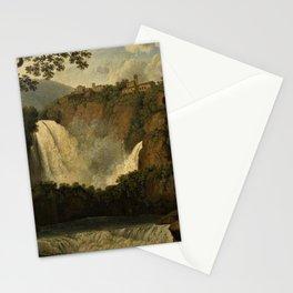 Waterfalls of Tivoli, Lazio, Italy by Jakob Philipp Hackert Stationery Cards