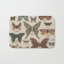 Butterflies and Moth Specimens Bath Mat
