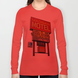 Nostalgic motel sign Long Sleeve T-shirt
