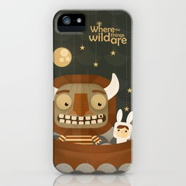 Where the wild things are fan art iPhone Case