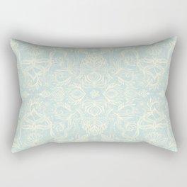 Pale Jade Tattoo - a pattern Rectangular Pillow