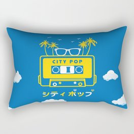 City Pop Summer theme (blue) Rectangular Pillow