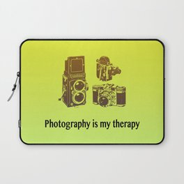 Photography is my therapy Laptop Sleeve