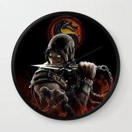Double Scorpion | Mortal K.O Wall Clock
