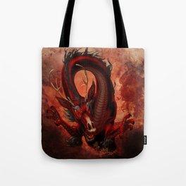 Elemental Fire Dragon Tote Bag