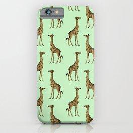 Green Giraffes Pattern iPhone Case
