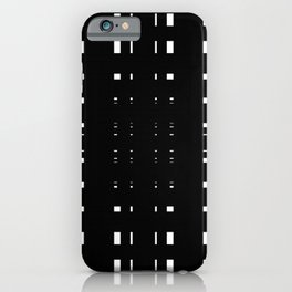 Perceive Depth In Black And White iPhone Case