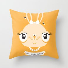 Ms. Honey Bunny Throw Pillow