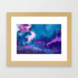 """The Crystal Forest"" (Blue/Pink) Digital Painting // Fine Art Print Framed Art Print"