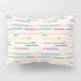 Morse Code Pastel Pattern Pillow Sham
