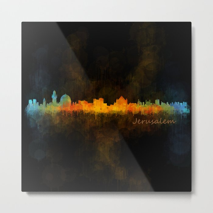 Jerusalem City Skyline Hq v4 Metal Print