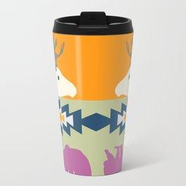 Colorful Christmas pattern with deer and bears Travel Mug