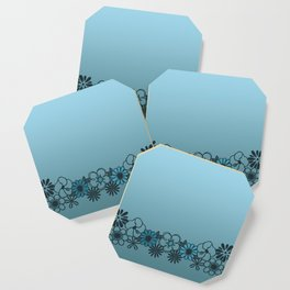 Kitschy Flower Medley Turquoise Coaster