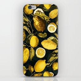 Lemon and Leaf Pattern V iPhone Skin