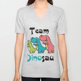 Team Dinosaur (2) Unisex V-Neck