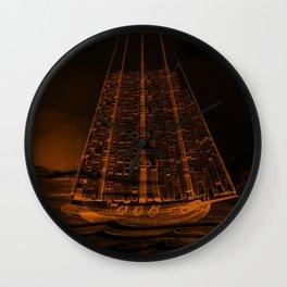 The Flying Dutchman / Legend, sepia Wall Clock