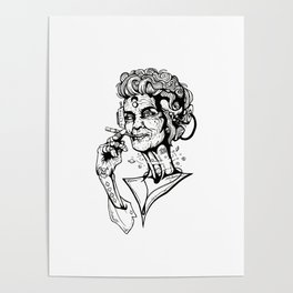 Ol' Lady Spacetime Poster
