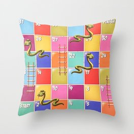 Snakes and Ladders Throw Pillow