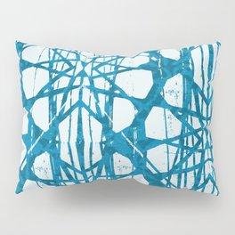 Blue and White Batik  Pillow Sham
