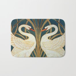 Walter Crane Swan, Rush And Iris Bath Mat