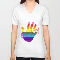 equality V-neck T-shirts featuring Equality by quality products