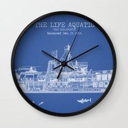 The Belafonte Blueprint Wall Clock