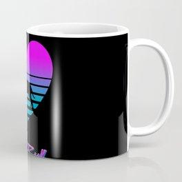 Pit Bull Love Cyberpunk Vaporwave Dog Puppy Gift Coffee Mug