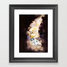 Little Owl Boy and the Milky Way Framed Art Print