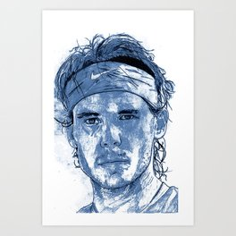 Rafael Nadal Illustration Art Print