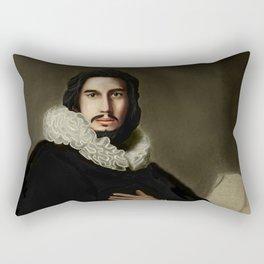 Adam Driver Portrait Rectangular Pillow