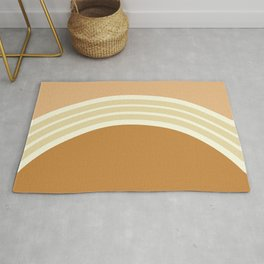 one day –earthen clay layers 2 Rug
