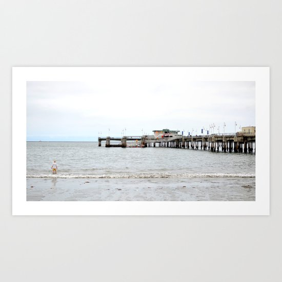 One Off the Pier Art Print