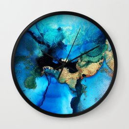 Stella Blue & Gold Wall Clock