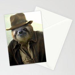 Archeologist Sloth Stationery Cards
