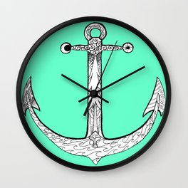 Redwood Anchor Wall Clock