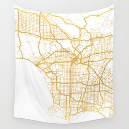 LOS ANGELES CALIFORNIA CITY STREET MAP ART Wall Tapestry