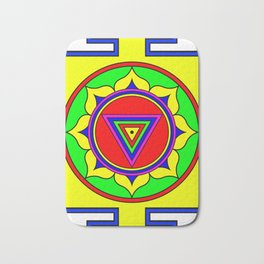 Kali yantra colorful symbol Bath Mat