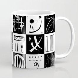 Kandinsky - Black and White Pattern - Abstract Art Coffee Mug
