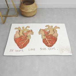 My Heart Likes Your Heart Rug